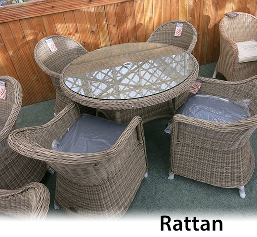 Rattan furniture for the garden